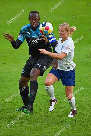 Usain Bolt and Katie Chapman