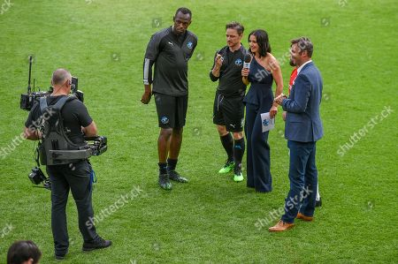 Usain Bolt, James McAvoy and Kirsty Gallacher