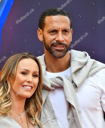 Katie Wright and Rio Ferdinand