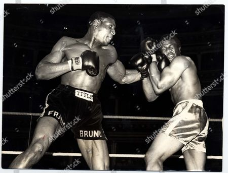 Frank Bruno Boxer A Left Hook From Frank Bruno Connect With Tony Moore At Royal Albert Hall....boxer