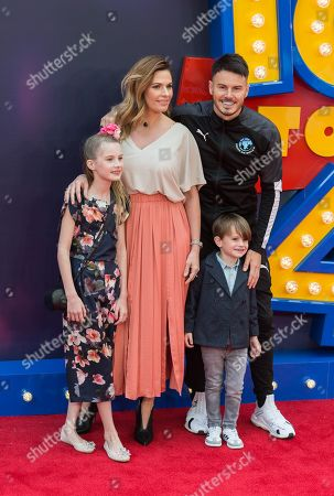 Billy Wingrove (R) arrives with family for the European film premiere of 'Toy Story 4' at Odeon Luxe, Leicester Square.