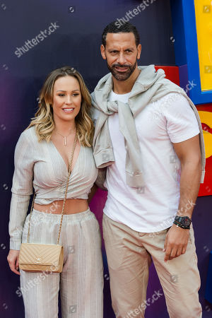 Kate Wright and Rio Ferdinand arrive for the European film premiere of 'Toy Story 4' at Odeon Luxe, Leicester Square.
