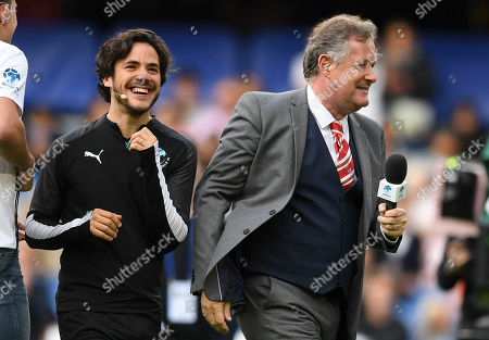 Piers Morgan co-manager of the World XI and Jack Savoretti of the World XI