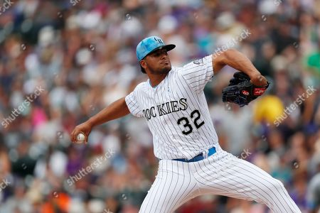 Jesus tinoco, r m. Colorado Rockies relief pitcher Jesus Tinoco works against the San Diego Padres in the fourth inning of a baseball game, in Denver
