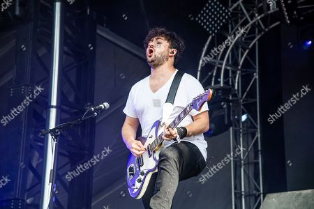 Stock Photo of Eli Maiman of Walk The Moon performs at the Bonnaroo Music and Arts Festival, in Manchester, Tenn
