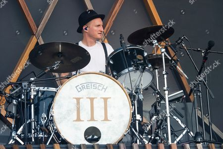 Jeremiah Fraites of The Lumineers performs at the Bonnaroo Music and Arts Festival, in Manchester, Tenn