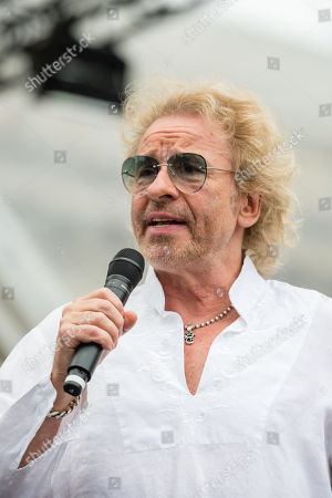 German TV presenter Thomas Gottschalk stands before the beginning a concert under the slogan 'Opera for All' on an open air stage in Berlin, Germany, 16 June 2019. For more than a decade the Staatskapelle Berlin and Daniel Barenboim have been playing an open-air concert for residents of Berlin and their guests.