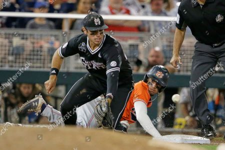 Editorial photo of CWS Auburn Mississippi St Baseball, Omaha, USA - 16 Jun 2019