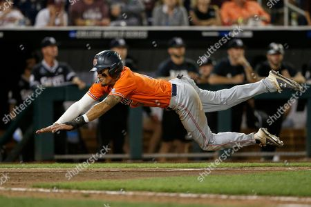 Editorial image of CWS Auburn Mississippi St Baseball, Omaha, USA - 16 Jun 2019