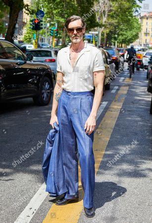 Editorial image of Street Style, Spring Summer 2020, Milan Fashion Week Men's, Italy - 15 Jun 2019