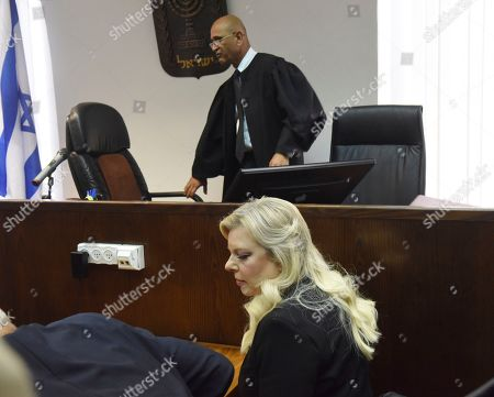 Sara Netanyahu, the wife of Israeli Prime Minister Benjamin Netanyahu, appears in the Magistrate Court, for a hearing on a plea deal over the misuse of state funds for meals at the premier's residence, in Jerusalem