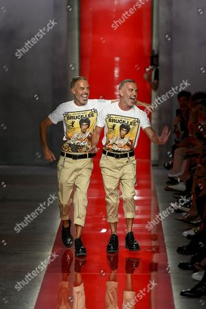 Dan Caten and Dean Caten on the catwalk