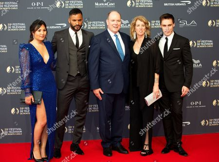 Marie Chevalier, Ricky Whittle, Prince Albert II of Monaco, Rory Kennedy and Louis Ducruet