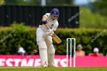 John Simpson of Middlesex batting during the Specsavers County Champ Div 2 match between Middlesex County Cricket Club and Glamorgan County Cricket Club at Radlett Cricket Ground, Radlett, Herfordshire