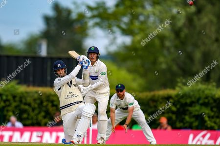Steven Finn of Middlesex batting during the Specsavers County Champ Div 2 match between Middlesex County Cricket Club and Glamorgan County Cricket Club at Radlett Cricket Ground, Radlett, Herfordshire