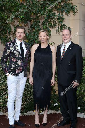 Oliver Stark, H.S.H. Prince Albert II of Monaco, H.S.H. Princess Charlene of Monaco