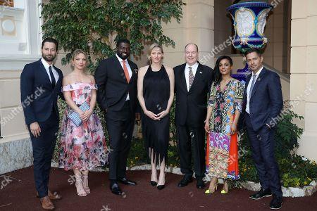 Ryan Eggold, Perdita Weeks, Stephen Hill, H.S.H. Princess Charlene of Monaco, H.S.H. Prince Albert II of Monaco, Freema Agyeman, Jay Hernandez