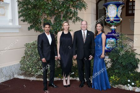 Nicholas Gonzalez, H.S.H. Princess Charlene of Monaco, H.S.H. Prince Albert II of Monaco, Christina Chang Cocktail