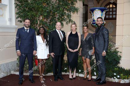 Stock Image of Jeremy Sisto, Noel Ebonee, H.S.H. Prince Albert II of Monaco, H.S.H. Princess Charlene of Monaco, Missy Peregrym, Zeeko Zaki