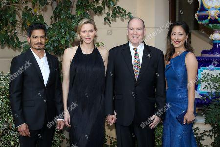 Stock Photo of Nicholas Gonzalez, H.S.H. Princess Charlene of Monaco, H.S.H. Prince Albert II of Monaco, Christina Chang