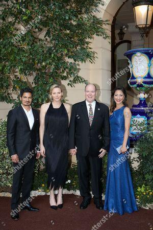 Nicholas Gonzalez, H.S.H. Princess Charlene of Monaco, H.S.H. Prince Albert II of Monaco, Christina Chang