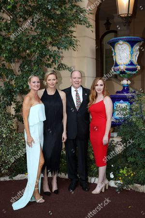 Stock Photo of Sharon Case, H.S.H. Princess Charlene of Monaco, H.S.H. Prince Albert II of Monaco, Camryn Grimes