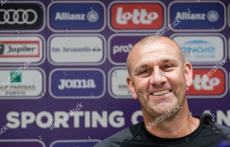 RSCA Anderlecht's new coach Simon Davies during a press conference at Constant Vanden Stock Stadium in Brussels, Belgium, 17 June 2019.