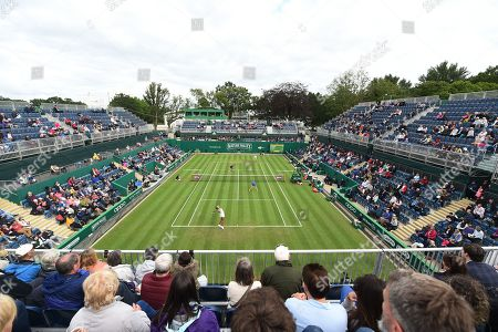General view during the Womens double match between Nadia Kichenok of the Ukraine and Abigail Spears of the USA against Venus Williams of the USA and Harriet Dart of Great Britain.