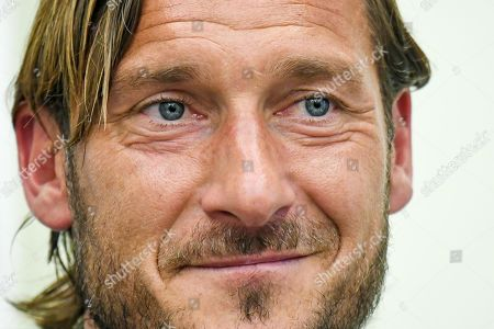 Former AS Roma captain Francesco Totti reacts during a press conference at the offices of the Italian Olympic Committee (CONI) in Rome, Italy, 17 June 2019. AS Roma legend Francesco Totti announced that he was resigning from his position as an executive for the Serie A club.