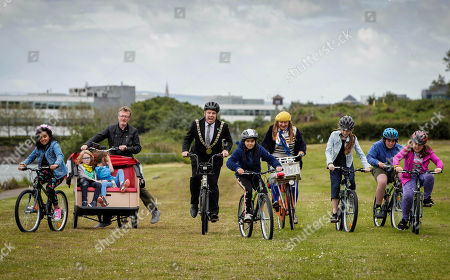 """Pictured here are pupils from Springdale National School, Edenmore, Dublin 5, cyclists from Cycling without Age and the new Lord Mayor, Paul McAuliffe at the launch of the Velo-city 2019 Bike Parade, which takes place on 26th June and is now open to the public to register and take part. They were also joined by the new Lord Mayor, Paul Mc Auliffe and Dublin City Council Chief Executive Owen Keegan. The Bike Parade is just one of the exciting activities happening in the city to celebrate the world's largest cycling conference, Velo-city 2019 """"Cycling for the Ages"""", which is taking place in the Convention Centre from 25th ñ 28th June 2019. Cycling enthusiasts, school children and families who wish to take part in the Bike Parade with the conference delegates can join the route at the Sails Sculpture which is located in Clontarf at 3:30pm on 26th June."""