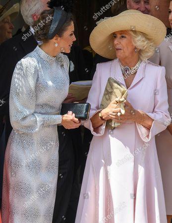 Queen Letizia with Camilla Duchess of Cornwall