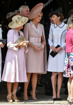 Camilla Duchess of Cornwall with Queen Maxima and Catherine Duchess of Cambridge