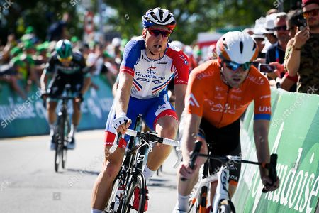 Stefan Kueng from Switzerland of Groupama-FDJ in action during the third stage of the 83rd Tour de Suisse UCI ProTour cycling race, over 162.3 km from Flamatt to Murten, Switzerland, 17 June 2019.