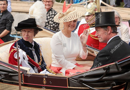 Princess Anne and Sophie Countess of Wessex during the annual Order of the Garter Service