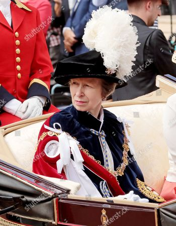 Princess Anne during the annual Order of the Garter Service