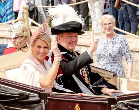 King Willem-Alexander and Queen Maxima of The Netherlands during the annual Order of the Garter Service