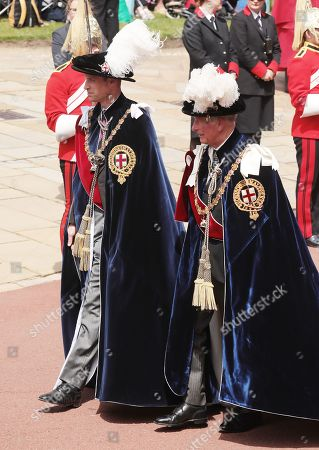 Prince William and his father Prince Charles during the annual Order of the Garter Service