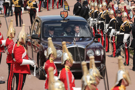 Queen Elizabeth II during the annual Order of the Garter Service