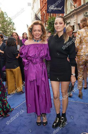 Caroline Scheufele and Marion Cotillard