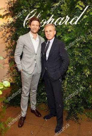 James Norton and Christoph Waltz