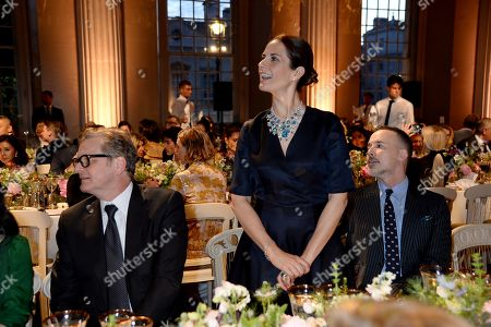 Colin Firth, Livia Giuggioli and David Furnish