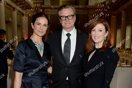 Colin Firth, Livia Giuggioli and Julianne Moore