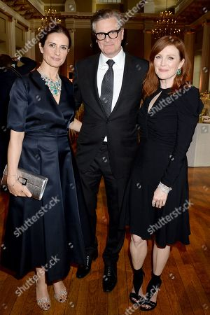 Livia Giuggioli, Colin Firth and Julianne Moore