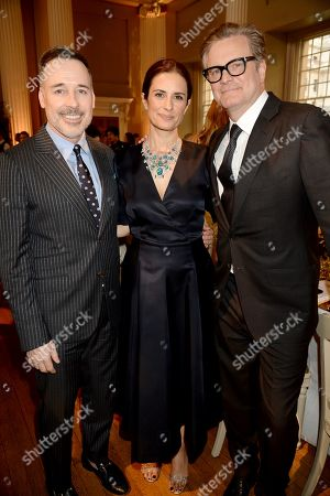 David Furnish, Livia Giuggioli and Colin Firth