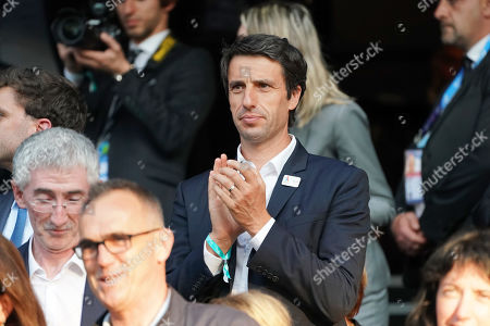 Tony Estanguet, President of the Olympic Comitee for Paris 2024, during the FIFA Women's World Cup 2019 Group A soccer match between Nigeria and France in Rennes, France, 17 June 2019.