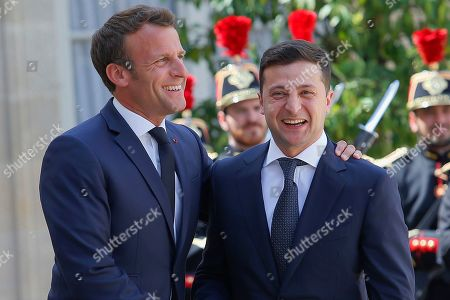 President of Ukraine Volodymyr Zelensky visit to Paris