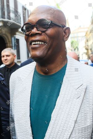 Samuel L Jackson out and about, Milan