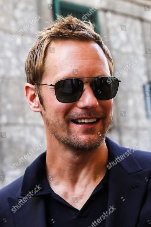 Alexander Skarsgard out and about, Milan