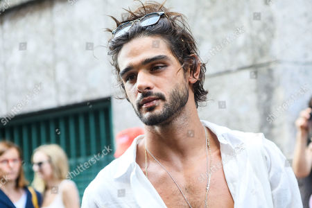 Editorial image of Marlon Teixeira out and about, Milan Fashion Week Men's, Italy - 17 Jun 2019