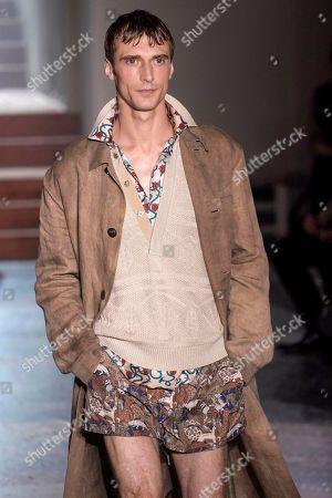 Editorial image of Pal Zileri show, Runway, Spring Summer 2020, Milan Fashion Week Men's, Italy - 17 Jun 2019